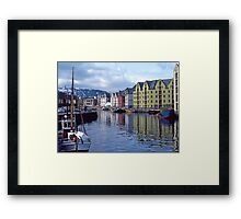 Fishing port, Alesund, Norway. Framed Print