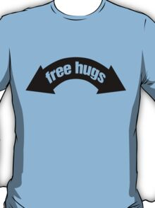 Free Hugs (Insert Arms Here) - Black Graphic T-Shirt