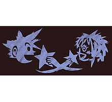 Kingdom Hearts - Sora and Kairi Chalk Drawing Photographic Print