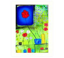 A Flower in the Window Art Print