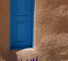 Grape Hyancinth & Turquoise Door by ☼Laughing Bones☾