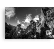 Putangirua Pinnacles view 2 - Cape Palliser, New Zealand Canvas Print