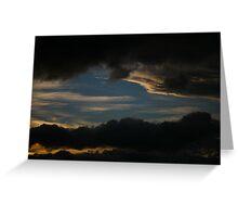 sunset layer. tasmania, australia Greeting Card