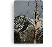 Power to the Mountains Canvas Print