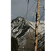 Power to the Mountains Photographic Print
