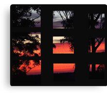 """'Segmented Dawn"""" Canvas Print"""
