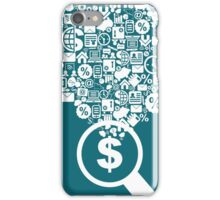 Business a magnifier iPhone Case/Skin