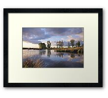 and sky touches water #2... Framed Print