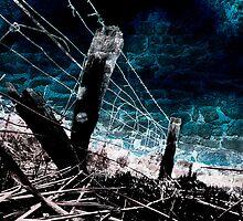 Burnt Fence by Andrew (ark photograhy art)