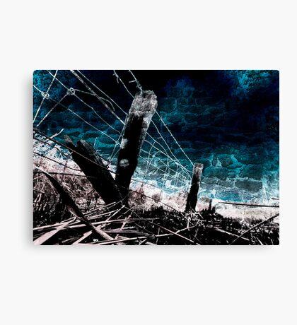 Burnt Fence Canvas Print