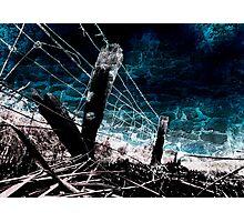 Burnt Fence Photographic Print