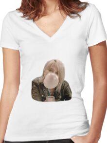 Sky Ferreira Women's Fitted V-Neck T-Shirt