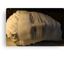 White marble, bound Italian sculpture Canvas Print