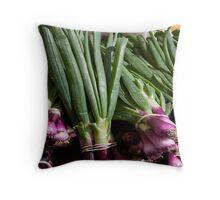 Green Onions Throw Pillow