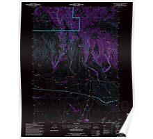 USGS Topo Map Oregon Sage Hen Hill 281357 1992 24000 Inverted Poster