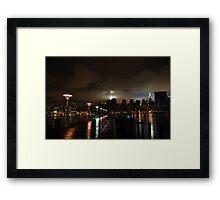 Queens to Manhattan Framed Print