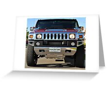 Hummer Limo Greeting Card