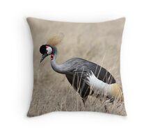 Grey Crowned Crane, Serengeti, Tanzania  Throw Pillow