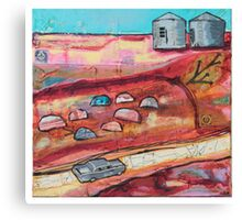 silos drive Canvas Print
