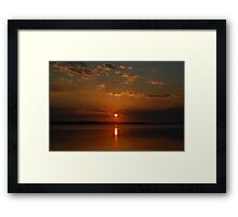Orange Sunrise -Chittaway Bay Framed Print
