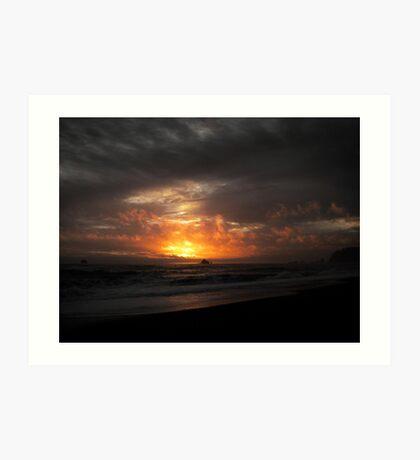 Rialto Sunset Art Print