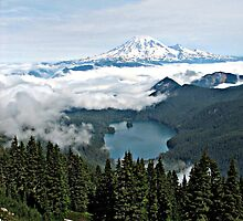 Mt. Rainier and Packwood Lake  by Don Siebel
