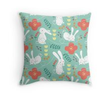 Rabbit Season Throw Pillow