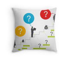 Business ladder3 Throw Pillow