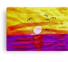 Good Morning Rise and Shine!!( revised) Watercolor Canvas Print