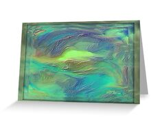 ABSTRACT- BEAUTY UNDER THE SEA Greeting Card