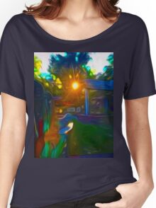 Maria's Sunrise Through The Trees Women's Relaxed Fit T-Shirt