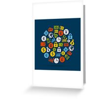 Business sphere2 Greeting Card