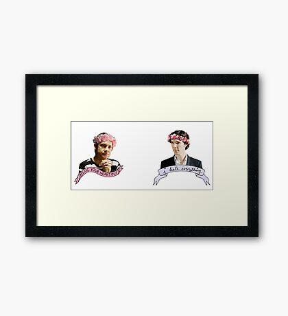 Sherlock and John together Framed Print