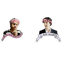 Sherlock and John together Photographic Print