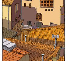 roof tiles florence by David  Kennett