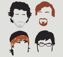 Flight of the Conchords Silly-ettes: 4-up by maclac