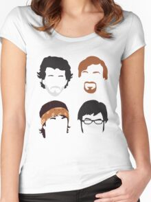 Flight of the Conchords Silly-ettes: 4-up Women's Fitted Scoop T-Shirt