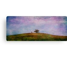 two tree hill - red Canvas Print