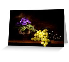 Violet and Grapes still life Greeting Card