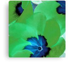 Green Primrose Canvas Print