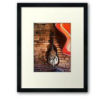 Vintage Guitar Framed Print