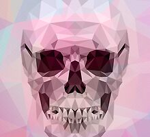 Pink Polygons Skull by neocrystaltokyo
