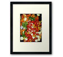Vegetables Roasting Soon Framed Print