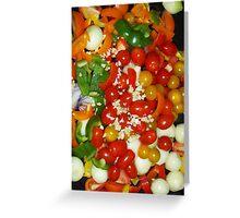 Vegetables Roasting Soon Greeting Card