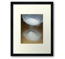 Sieve That Flour Framed Print