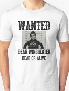 Dean Winchester Wanted Sign T-Shirt