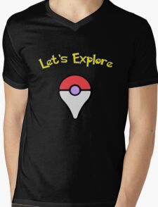 Let's Explore Mens V-Neck T-Shirt
