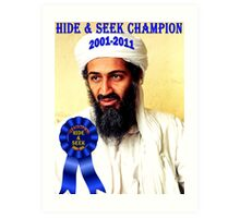 Hide & Seek Champion Art Print
