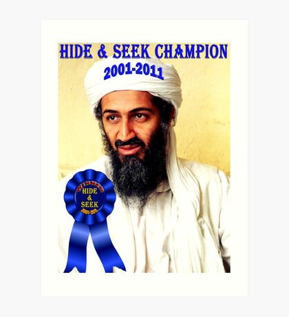 Hide & Seek Champion Art Print