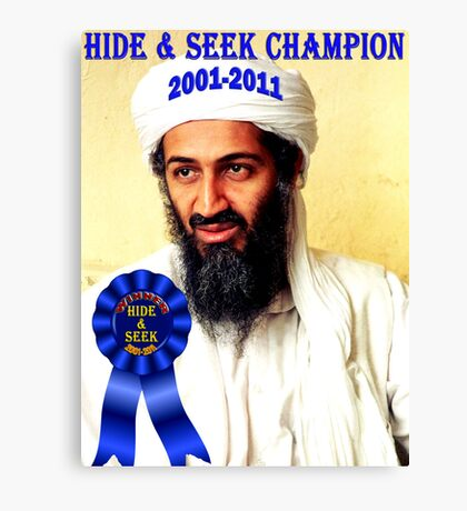 Hide & Seek Champion Canvas Print